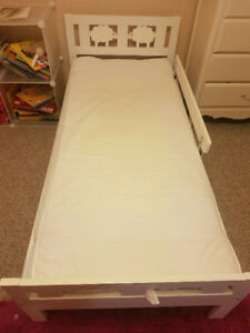 White ikea kritter youth bed 29x73