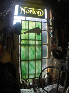 gorgeous old stained glass window
