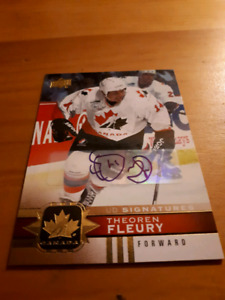 Cartes hockey team Canada. Auto.
