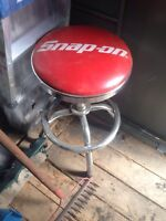 2 snap on swivel stools
