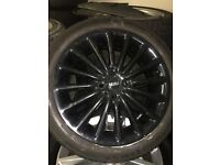 """Mini spare alloy wheel and tyre - 17"""" gloss black"""