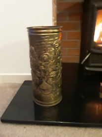 Brass bin/planter