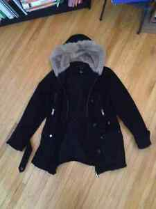 WOMEN'S 'Denim' WINTER COAT Black