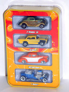Hot Wheels 1/64 Diecast Since 68 4-Pack Hot Rods Diecast Cars