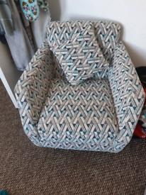 Sofa & swivel chair