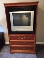 Armoire with TV