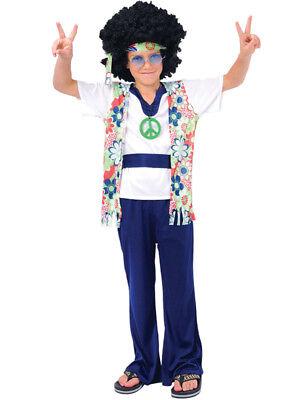 Boys Hippie Dude Costume Fancy Dress 1960s Hippy Kids Child Costume Outfit - Hippie Costume For Boys