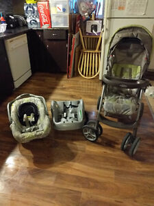 Stroller/car seat combo with base