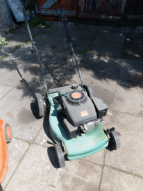 Lawn mower .