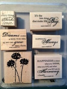 Stampin Up Various Wood Stamp Sets $5 Each