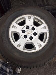 265/70R/17 Chevy truck rims and tires