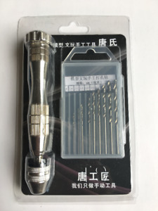 Hand-actuated Drill Driver with 10 Piece 0.8~3.0mm Accessory Kit