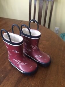 Toddler rubber boots with warm lining size 5