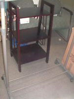 "Three Tiered Sturdy Shelf 36"" high x 15 1/4"" deep $25.00"