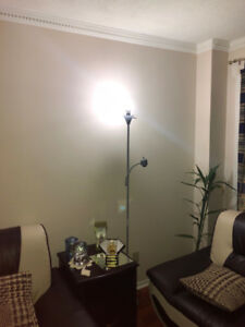 2 floor lamps with adjustable reading lights