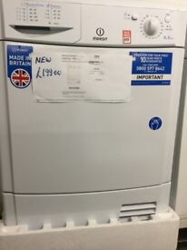 Indesit white Condenser tumble dryer