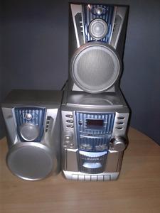 CD cassette fm stereo system