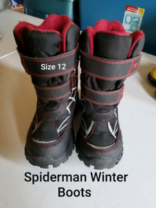 Boys Spiderman Winter Boots - Size 12