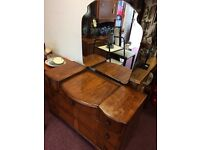 1950's dressing table and mirror