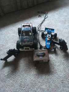 Vintage Kyosho Ultima and Big Brute, 2 controllers and charger