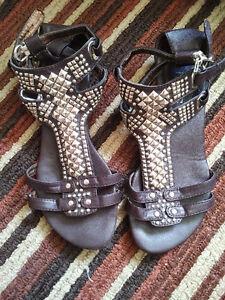 Brown Gladiator Sandals  Size 37