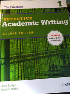 Book: Effective Academic Writing 2nd Edition + Online Code