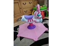 Fisher Price Bounce N' Spin Zebra pink