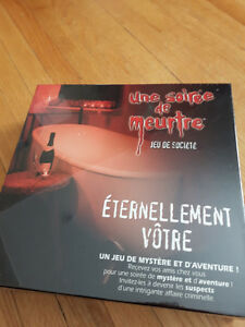 French murder mystery game - new