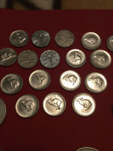Mixed lot misc. coins trade dollars , etc