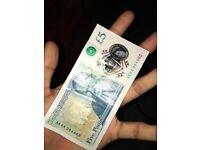 AK44 five pound note
