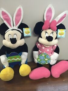 Mickey and Minnie Plush Easter - NEW with tags; Ukrainian Easter
