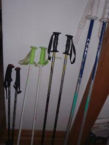 downhill ski poles