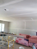 Drywall work and taping