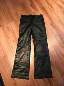 danier leather pants and matching coat