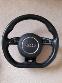 Audi A3 S3 8V flat bottom steering with Airbag