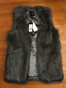 Brand New Dynamite Faux Fur Vest XS/S with tags