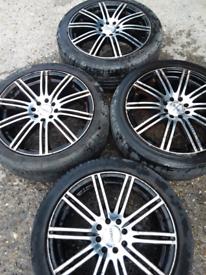 """17"""" Dezent Fiesta, Clio, Megane, Corsa etc alloy wheels (383)"""