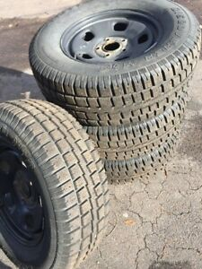 WINTER TIRES ON RIMS<P265/70R17>(FITS RAM 1500 TRUCKS)