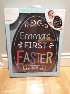 BABY'S FIRST EASTER CHALKBOARD....BRAND NEW!