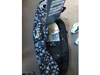 Burton Vision Snowboard 156cm mission bindings Salomon Boots & bag