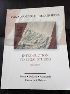 Carleton University: Introduction to Legal Studies Textbook