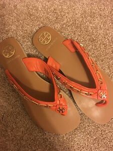 Tory Burch Leather Flip Flop - Size 9