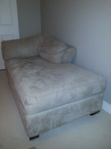 Like New Beige Ultra Suede Chaise Lounger SALE!!! $275