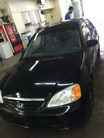 civic 2001 black on black*