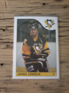 1985 O-PEE-CHEE Mario Lemieux rookie hockey card #9 mint reprint