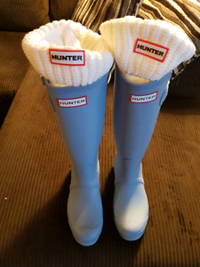 Pale Blue Boots and Socks by Hunter