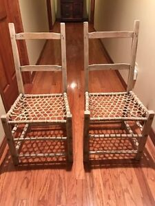 Antique Ladderback Chairs