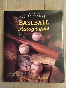 The 100 Greatest Baseball Autographs, Hardcover, Brand New !