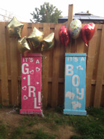 """Cute Rustic """"It's a Boy/Girl"""" Lawn Sign for Rent"""