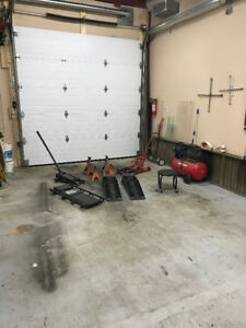 heated shop with use of tools